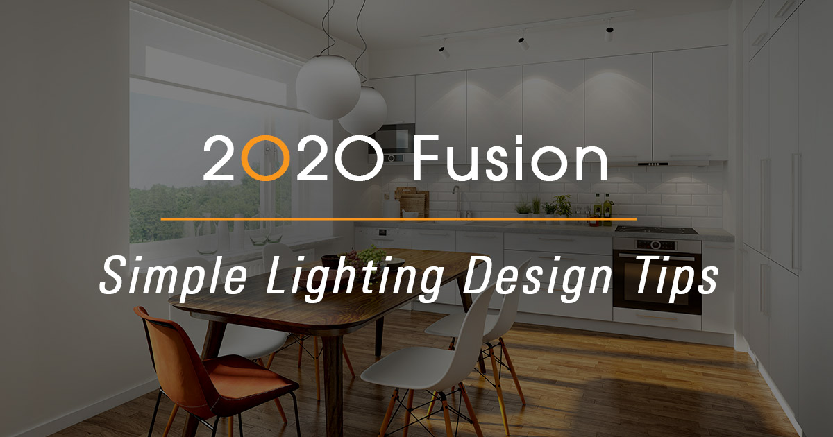 2020 Fusion Simple Kitchen Lighting Design Tips 2020